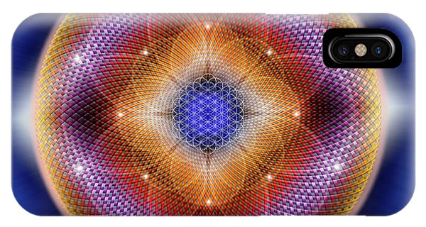 IPhone Case featuring the digital art Sacred Geometry 712 by Endre Balogh