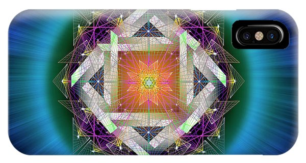IPhone Case featuring the digital art Sacred Geometry 714 by Endre Balogh