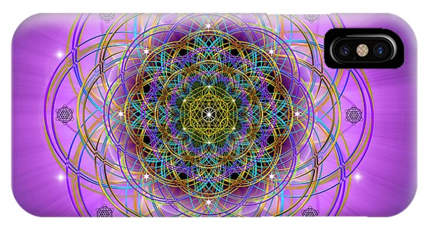 IPhone Case featuring the digital art Sacred Geometry 715 by Endre Balogh
