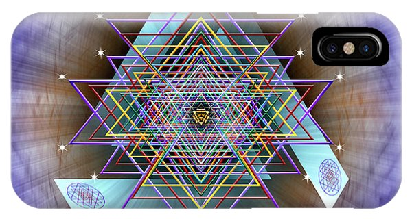 IPhone Case featuring the digital art Sacred Geometry 717 by Endre Balogh