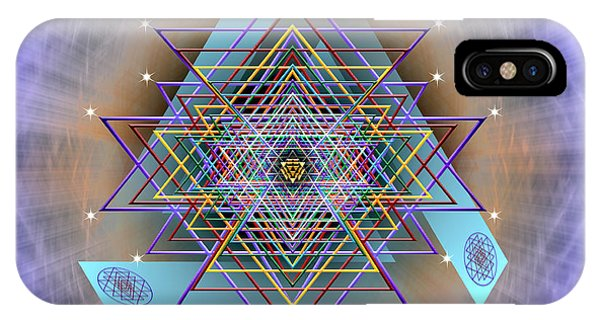 IPhone Case featuring the digital art Sacred Geometry 717 Version 2 by Endre Balogh