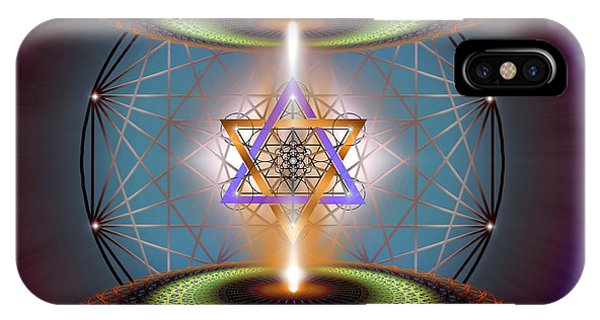 IPhone Case featuring the digital art Sacred Geometry 718 by Endre Balogh