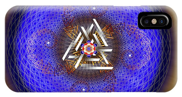 IPhone Case featuring the digital art Sacred Geometry 719 by Endre Balogh