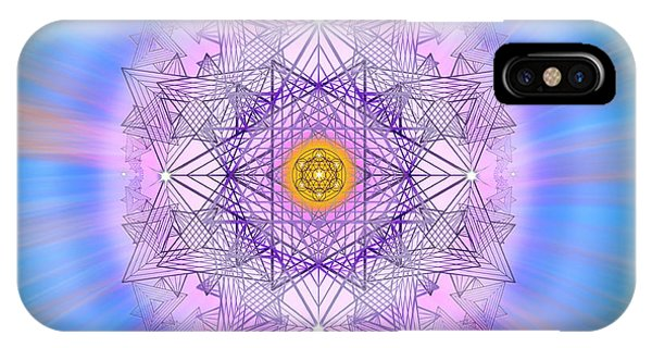 IPhone Case featuring the digital art Sacred Geometry 720 by Endre Balogh