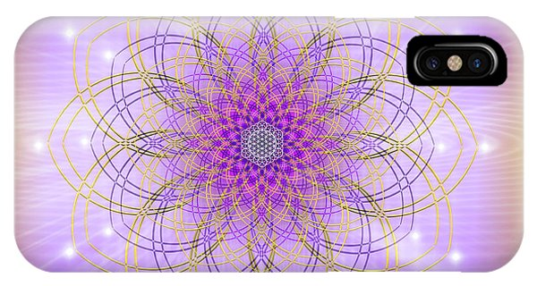 IPhone Case featuring the digital art Sacred Geometry 721 by Endre Balogh