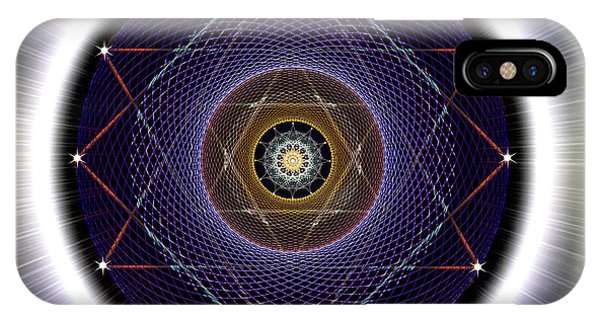 IPhone Case featuring the digital art Sacred Geometry 722 by Endre Balogh