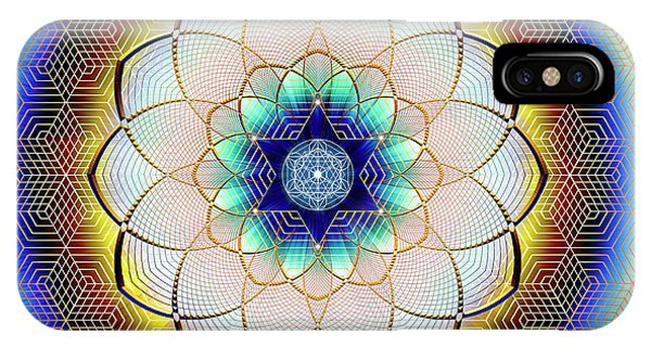 IPhone Case featuring the digital art Sacred Geometry 723 by Endre Balogh