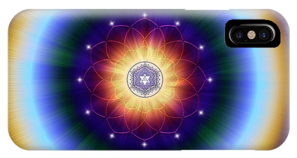 IPhone Case featuring the digital art Sacred Geometry 724 by Endre Balogh