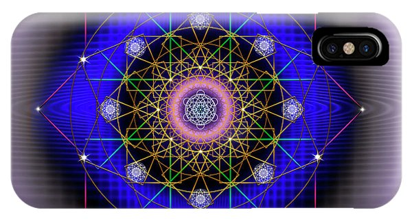 IPhone Case featuring the digital art Sacred Geometry 725 by Endre Balogh