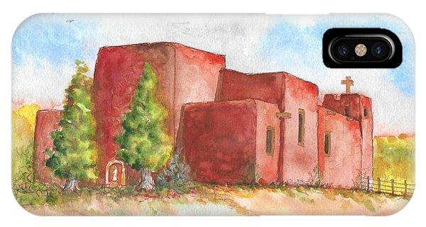 Sacred Heart Catholic Church, Nambe, New Mexico IPhone Case