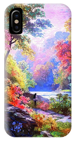 Native iPhone Case - Sacred Landscape Meditation by Jane Small