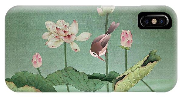 Sacred Lotus Flower IPhone Case