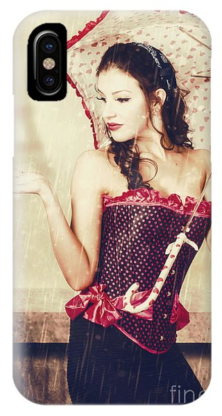 Sad French Pin-up Woman. Loss In The City Of Love IPhone Case