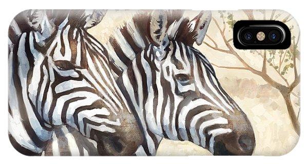 Zebra iPhone Case - Safari Sunrise by Mauro DeVereaux