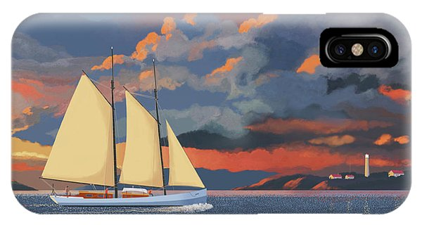 Schooner iPhone Case - Safe Haven by Gary Giacomelli