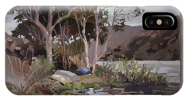 Betty Billups iPhone Case - Safe Shelter  - Plein Air - Catalina Island by Betty Jean Billups