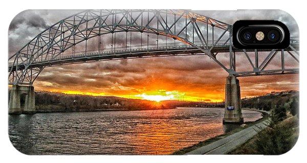 Sagamore Bridge Sunset IPhone Case