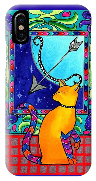 Sagittarius Cat Zodiac IPhone Case