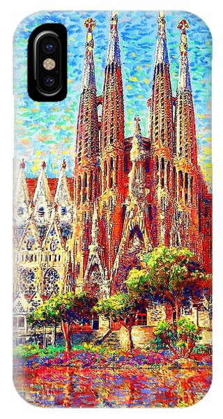 Colourful iPhone Case - Sagrada Familia by Jane Small