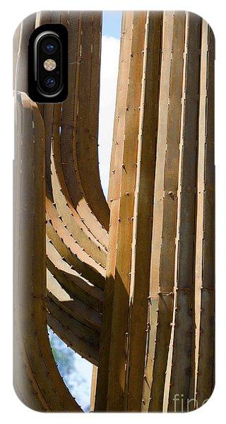 Saguaro Cactus In Steel IPhone Case