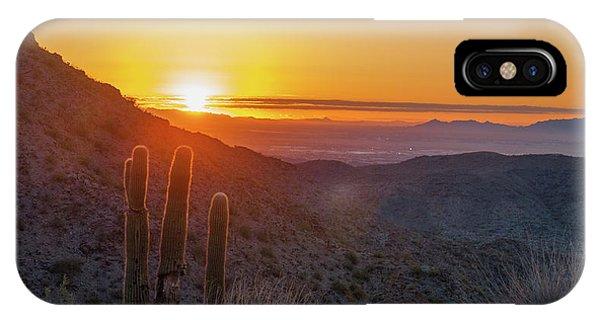 Saguaro Sunrise IPhone Case