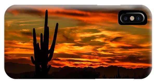 Saguaro Sunset H51 IPhone Case