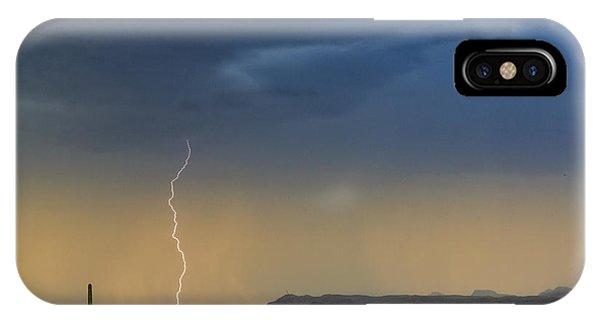 Saguaro With Lightning IPhone Case