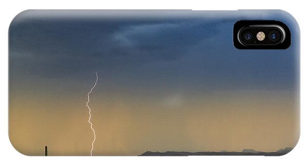 Saguaro With Lightning IPhone Case