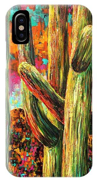 Saguaros At Sunset IPhone Case