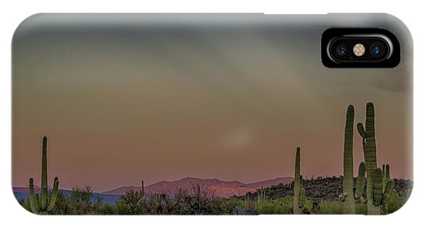 Saguaros Salute Rays Rising IPhone Case
