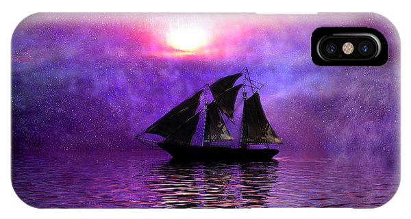 Schooner iPhone Case - Sail Away by Carol and Mike Werner