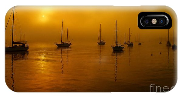 Sail Boats In Fog IPhone Case