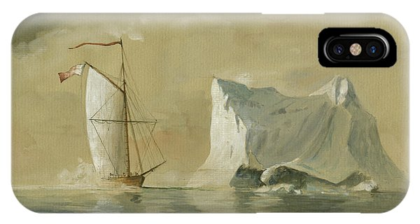 Sail Ship At The Ice IPhone Case
