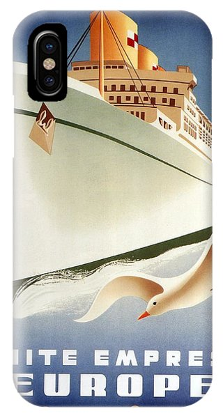Office iPhone Case - Sail White Empress To Europe - Canadian Pacific - Retro Travel Poster - Vintage Poster by Studio Grafiikka