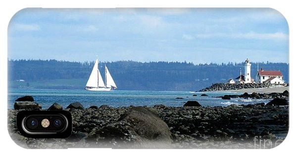 Sailboat And Lighthouse IPhone Case