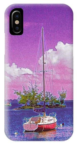 Sailboat At Reeds Bay Hilo Aloha IPhone Case