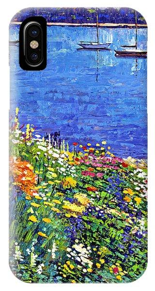 Sailboat Bay Garden IPhone Case