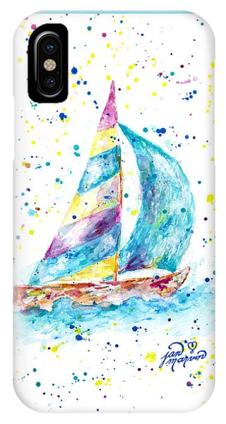 Sailboat By Jan Marvin IPhone Case