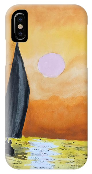 IPhone Case featuring the painting Sailboat by Donald Paczynski