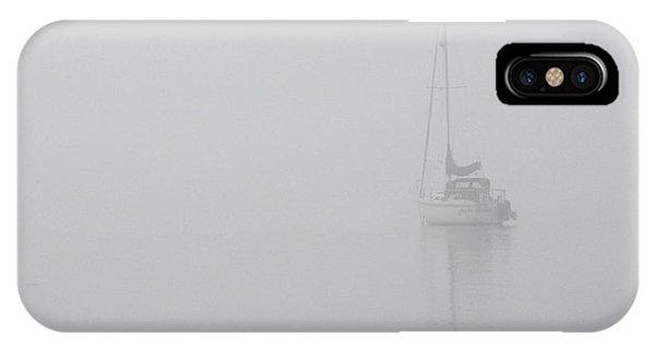 Sailboat In Fog IPhone Case