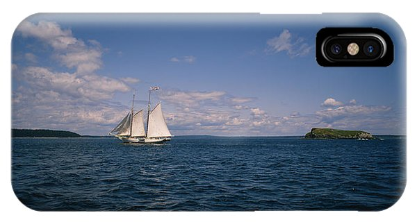 St. Maarten iPhone Case - Sailboat In The Sea, St. Maarten by Panoramic Images