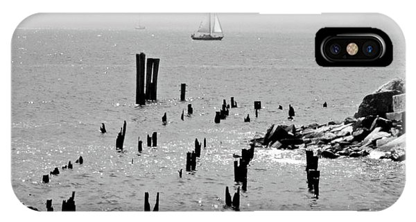 Sailboats iPhone Case - Sailboat Off City Island, New York No. 1-1 by Sandy Taylor