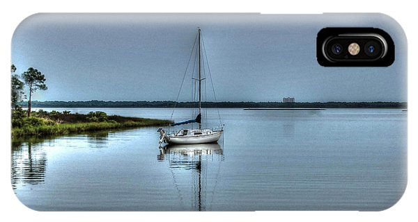 Sailboat Off Plash IPhone Case