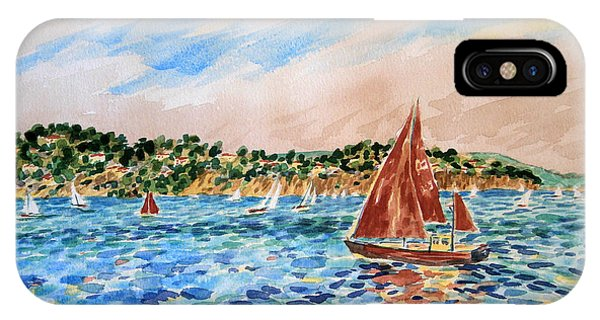 Sailboat On The Bay IPhone Case
