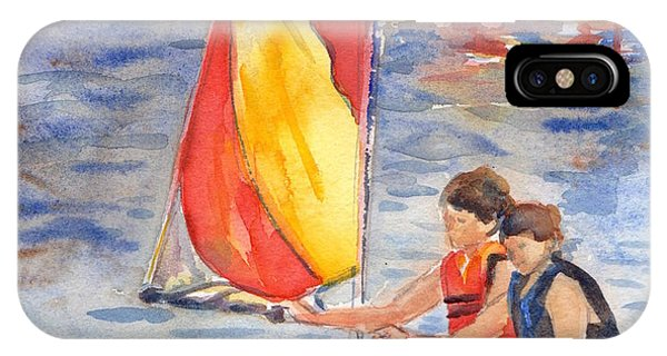 iPhone Case - Sailboat Painting In Watercolor by Maria Reichert