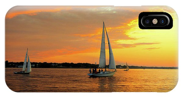 IPhone Case featuring the photograph Sailboat Parade by Robert Henne