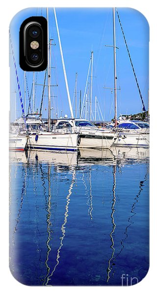 Sailboat Reflections - Rovinj, Croatia  IPhone Case