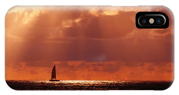Sailboat Sun Rays IPhone Case