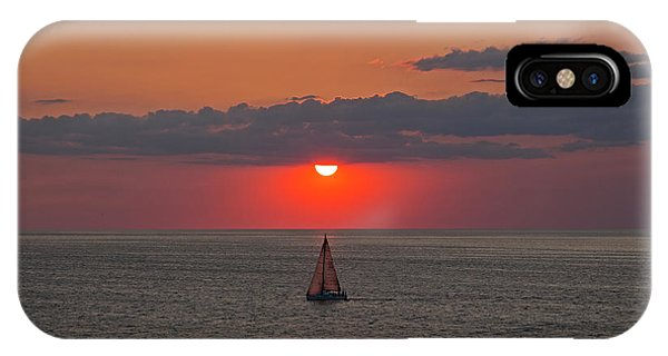 Sailboat Sunset IPhone Case