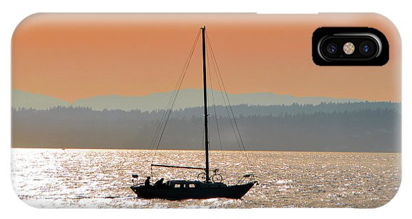 Sailboat With Bike IPhone Case